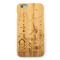 Natural Bamboo Wooden Hard Case For iPhone 6 Plus Back Cover Case Protector