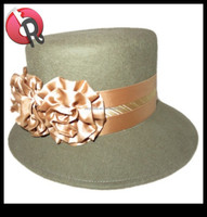 lady women plain church hats