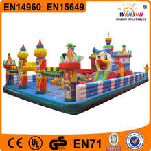New product pvc best selling inflatable sport product cartoon fun city