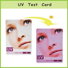 Eco-friendly UV Test Card, Best selling UV Test card
