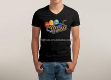 Mens fashion V neck t-shirt, hot sale V neck printing t-shirt for men, promotional OEM design V neck tee shirt
