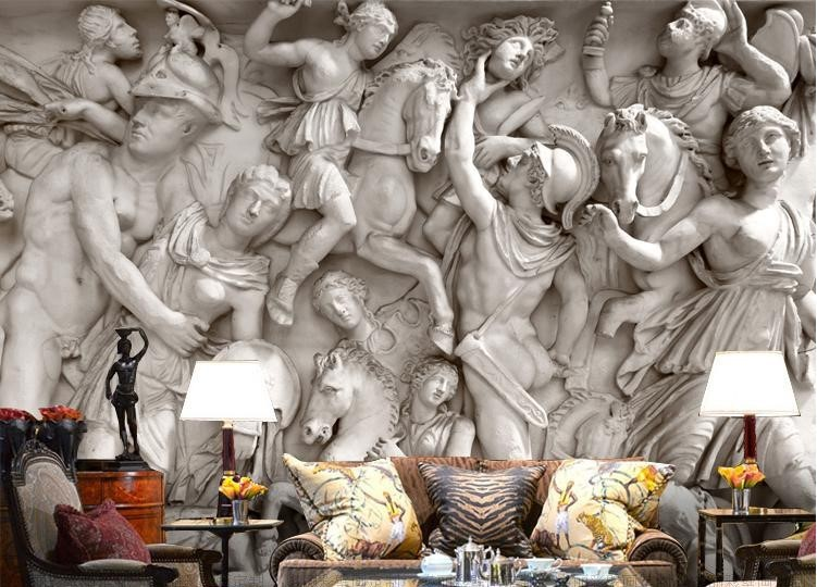 3d Wallpaper Greek Roman Statues Art Mural Wall Paper