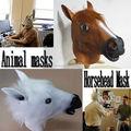 Disfraces de Halloween Prop Theater alta calidad de la novedad de látex de caucho caballo cabeza de animal máscara