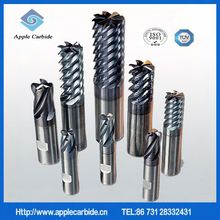 Diameter 3.0-20mm 2-flute flattened carbide end mills with straight shank and long cutting edge;flat bottom end mill;square end