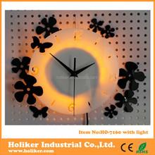 LED acrylic interior decoration wall clock