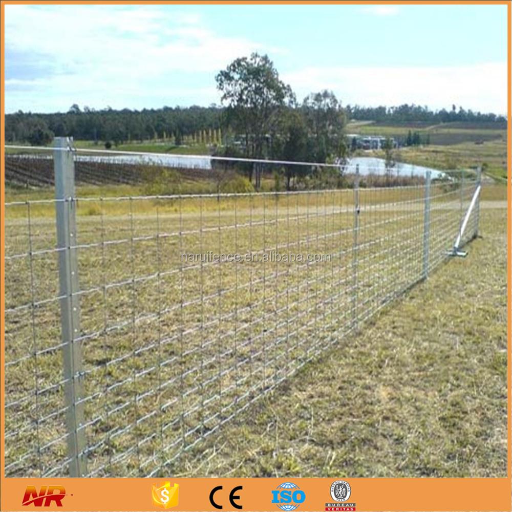 Galvanized metal farm fence welded wire mesh sheet steel