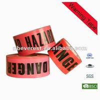 Plastic underground warning tape