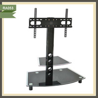 tv stand made in china mounting mobile aluminum glass tv stand