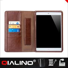 2014 High class genuine leather for iPad mini 2 case