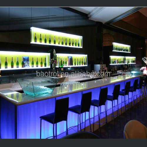 Commercial bar counter luxury modern design bar furniture view led night club table baotrol - Moderne lounge en voormalig ...