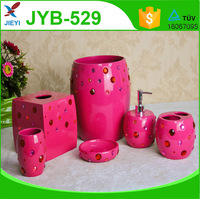 High quality cheap price funny pink polyresin bathroom accessories for home decoration