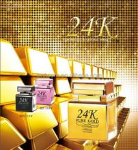 2015 hot sale 24K golden color eau de parfumes