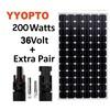 125mm solar cell high quality pv panels solar 200w monocrystalline pv solar panels price 200w