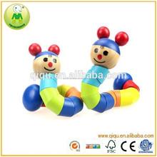 Oruga forma de madera del bebé animales de juguete DIY
