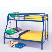 hot sale fashion design home furniture type metal bunk bed/twin over full bunk bed