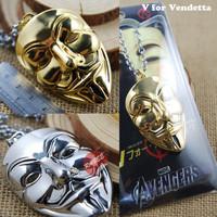 Hot Movie V for Vendetta Hacker Mask Necklace