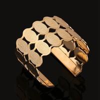 MUB fashion hot sale new gold silver bracelet new designs stainless steel cuff bracelet