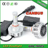 Factory Car led headlight / canbus led headlight 9005 6000LM motorcycle led headlight with 3000K, 4300K, 6500K, 8000K, 10000K