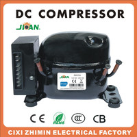Solar ZM25DC R134a 12V 24V dc compressor for solar removable ice cream van/truck
