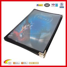 Factory direct High quality hotel menu cover & clear plastic pvc menu cover