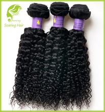 Dominicaine produits capillaires gros pas cher bouclés de cheveux humains tissage