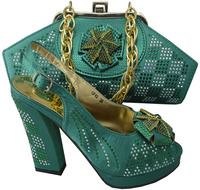 SB418 green color EUR size 38/39/40/41/42 message us which size you want italian party shoes and bags