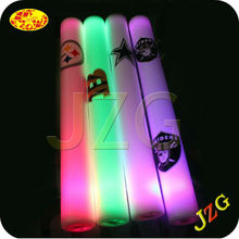 Factory wholesale light up led flashing foam stick with costom logo foam led cheer stick for concert
