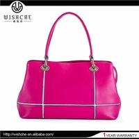 Wishche Top Quality Brand New Design Handles For Bags Women Shoulder Bag Wholesale Genuine Leather Handbag Manufacturers W076