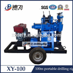portable rotary small borehole drilling rig for hard rock