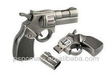Metal pistol model USB 2.0 Enough 8GB Memory Stick Flash pen Drive