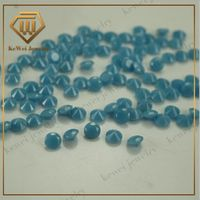 Lab Created High Temperature Resistance Round Cutting Machine Raw Turquoise