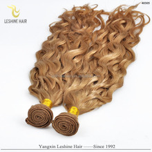 2016 Top Quality Wholesale Remy Private Label weave hair curly blonde