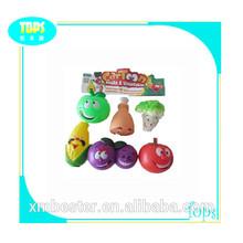 en 6 1 de dibujos animados de plástico de las frutas y vegetales juguetes
