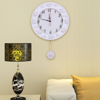 Promotional 2015 Mechanical Needle Duvar Saati Decorative Resin Large Wall Clocks Recommend for Living Room 34cm diameter BY001