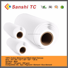 Digital Printing or Painting 100% Polyester Waterproof 260gsm High Glossy Canvas roll