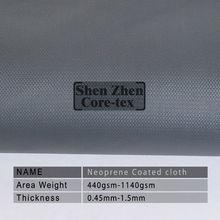Black waterproof neoprene fabric