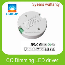 30w round shape led driver 12VDC 24VDC 36VDC 48VDC dimmable led Power Supply constant current