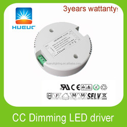30w round shape led driver 12VDC 24VDC 36VDC 48VDC dimmable led Power Supply constant current