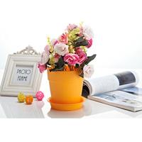 Garden Round plastic metal flower pot urns