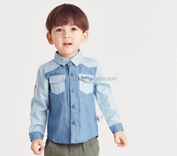 wholesale fashion children Autumn child clothes kids clothing Boys Korean new Boys cufflink plaid shirts