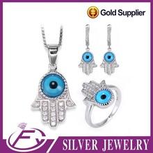 Vintage cubic circón de piedra de plata de ley 925 la joyería del ojo turco