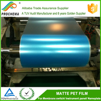 Fine Velvet Mylar Film Transparent PET Printing Film Rolls /Sheet for Membrane Switch Overlays