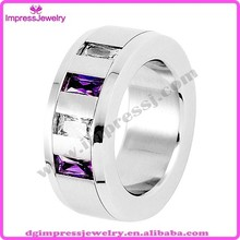 IJZ6167 316L stainless steel high quality mens ring with amethyst