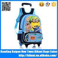 Best selling fashion cute cartoon high quality primiary school backpacks bag with wheels trolley backpack for child