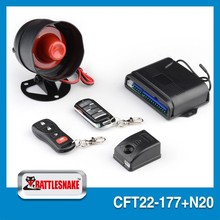 Brand new universal design car alarms electronic security system with remote key south america version