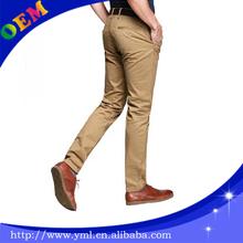 wholesale OEM men slim fit colorful chino pants