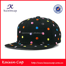 customize high quality 100 cotton embroidered logo designed baby snapback caps