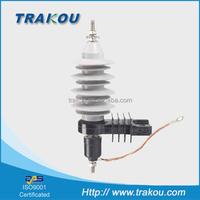 TRAKOU 12kv metal oxide gapless surge arrester/zinc oxide lightning arrester