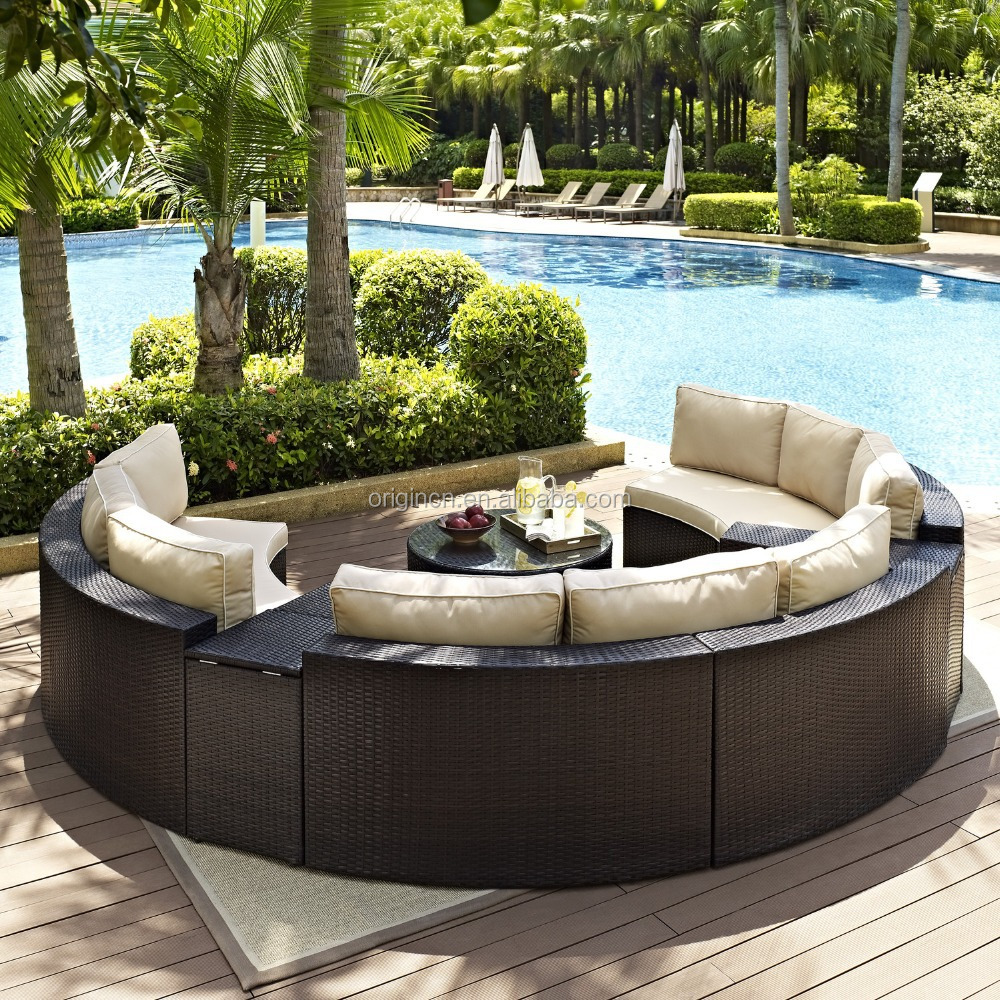 semi circle patio wicker chairs with sectional arm tables rattan rh wholesaler alibaba com circular patio furniture without fire pit circle patio chair