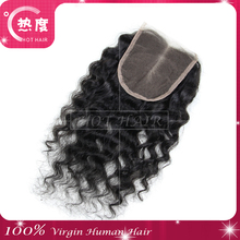 New products free parting lace closure and fiber optic closure Aliexpress wholesale hair closure piece